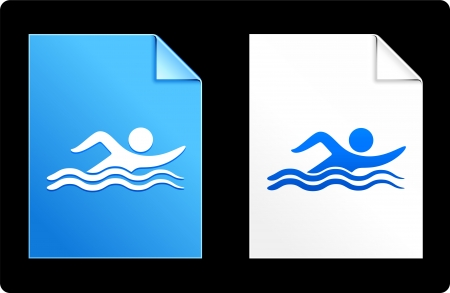 Swimmer on paper set