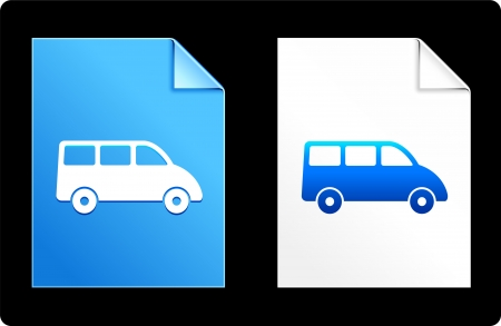 compatible: Van on Paper Set Original Vector Illustration AI 8 Compatible File  Illustration