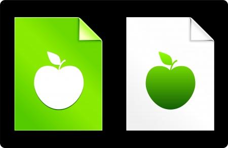 recourses: Apple sul set del libro Illustrazione vettoriale originale 8 AI file compatibile