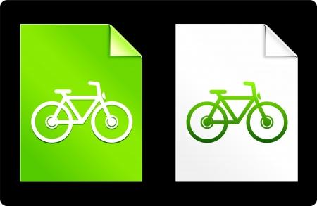 recourses: Bicicletta su carta insieme Illustrazione vettoriale originale AI 8 file compatibile