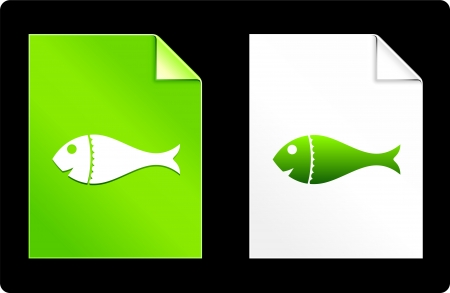 recourses: Fish on Paper Set Original Vector Illustration AI 8 Compatible File