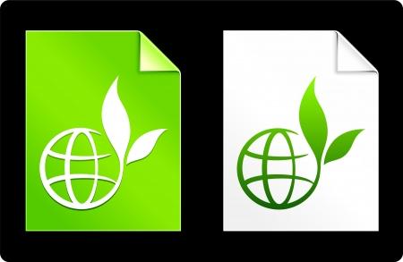 Globe on Paper SetOriginal Vector IllustrationAI 8 Compatible File Vettoriali