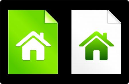 House on Paper SetOriginal Vector IllustrationAI 8 Compatible File Illusztráció