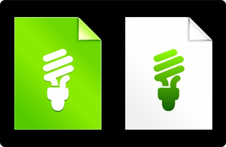 recourses: Fluorescent Lightbulb on Paper Set Original Vector Illustration AI 8 Compatible File