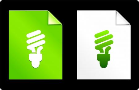 recourses: Lampadina fluorescente sul set del libro Illustrazione vettoriale originale File compatibile AI 8