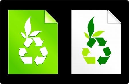 Recycle on Paper SetOriginal Vector IllustrationAI 8 Compatible File Stock Vector - 22430892