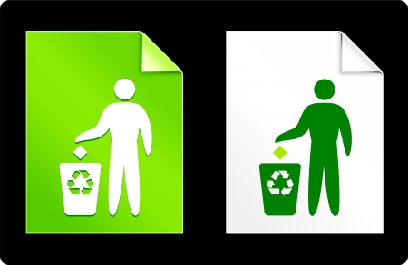 recourses: Riciclare spazzatura sul set del libro Illustrazione vettoriale originale 8 AI file compatibile  Vettoriali