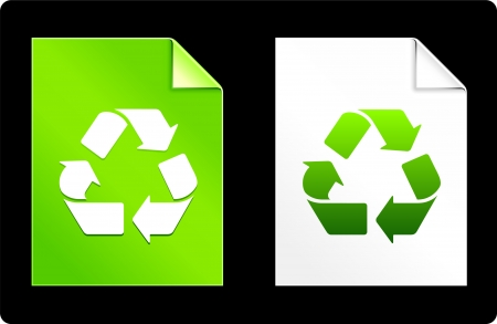 recourses: Recycle on Paper Set Original Vector Illustration AI 8 Compatible File  Illustration