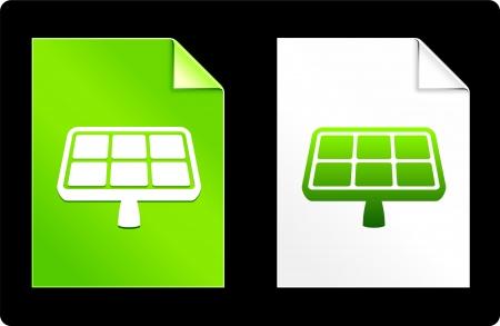 recourses: Pannello fotovoltaico sul set del libro Illustrazione vettoriale originale 8 AI file compatibile  Vettoriali