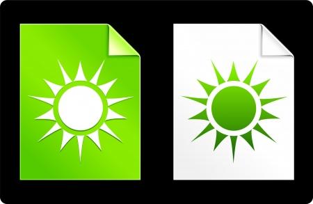 recourses: Sole sul Set di carta Illustrazione vettoriale originale AI 8 compatibile con File  Vettoriali