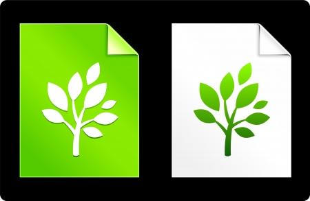 recourses: Albero sul Set di carta Illustrazione vettoriale originale AI 8 compatibile con File  Vettoriali