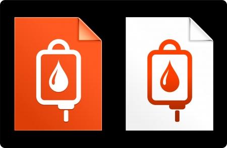 IV drip on Paper Set Original Vector Illustration AI 8 Compatible File