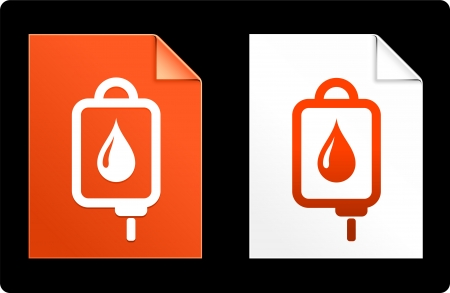 iv drip: IV drip on Paper Set Original Vector Illustration AI 8 Compatible File