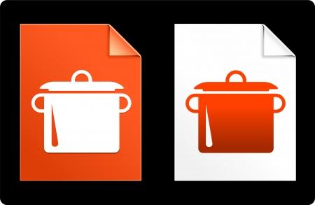 compatible: Pot sur papier ensemble Illustration originale de vecteur AI 8 du fichier Compatible