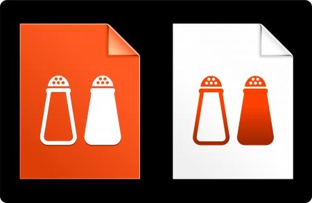 塩とパパー紙セット元のベクトル図AI 8 互換性のあるファイルします。
