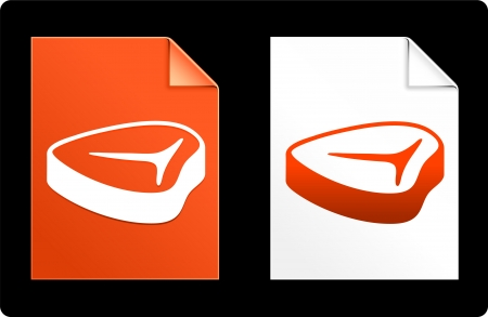 compatible: Steak sur papier ensemble Illustration originale de vecteur AI 8 du fichier Compatible  Illustration