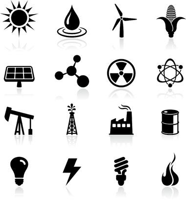 lightening: Original vector ilustraci�n: iconos medioambientales Vectores