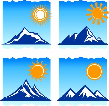 Original vector illustration: mountains icons