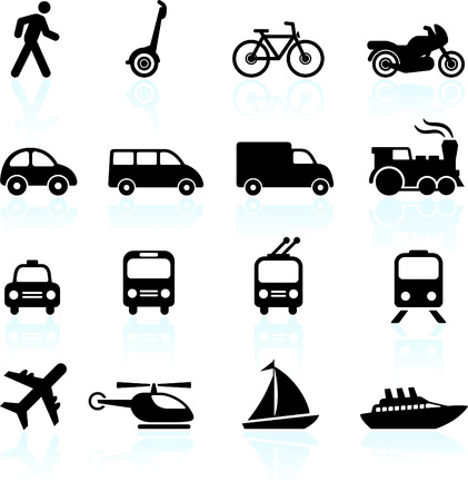 Original vector illustration: Transportation icons design elements Illustration
