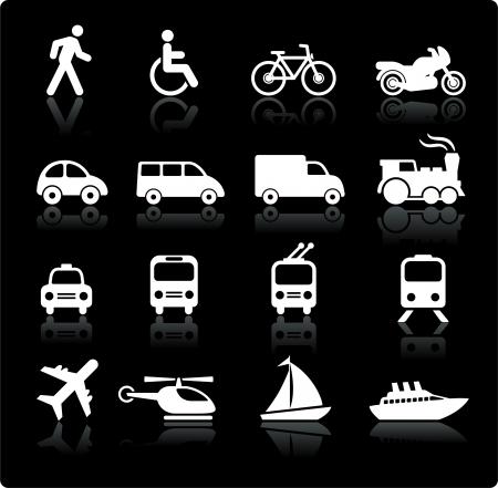 Original vector illustration: Transportation icons design elements Vettoriali