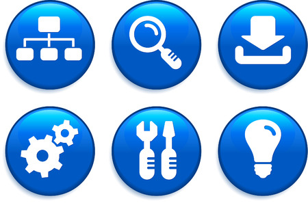 digitally generated image: Internet Icons Buttons Original Vector Illustration Buttons Collection
