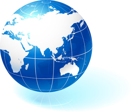 Original Vector Illustration Globes and Maps Ideal for Business Concepts  Illustration