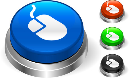 Mouse Icon on Internt ButtonOriginal Vector IllustrationThree Dimensional Buttons