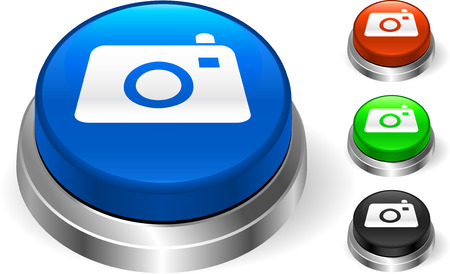 Camera Icon on Internet ButtonOriginal Vector IllustrationThree Dimensional Buttons Stock Vector - 22431461