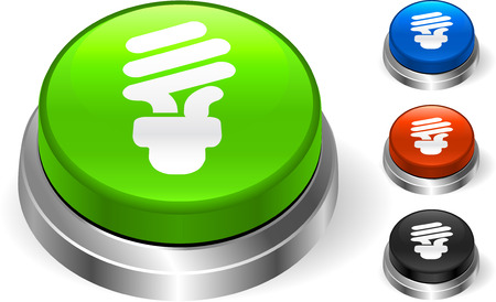 metal light bulb icon: Light Bulb Icon on Internet Button Original Vector Illustration Three Dimensional Buttons Illustration