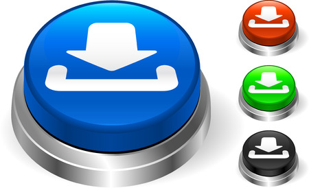 digitally generated image: download icon on internet button Original Vector Illustration Three Dimensional Buttons