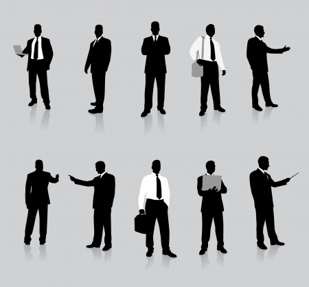Businessman Silhouette Collection Original Vector Illustration People Silhouette Sets Vector