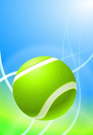 Tennis Ball on Abstract Background Original Vector Illustration Illustration