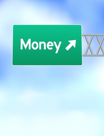 Money Highway Sign Original Vector Illustration Vector