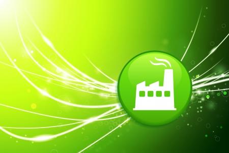 Bouton d'usine sur le vert de lumière abstraite Illustration originale Banque d'images - 22429547