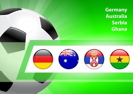 Global Soccer Event Group D Original Illustration