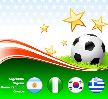 World Soccer Event Group BOriginal Illustration Stock Vector - 22429495