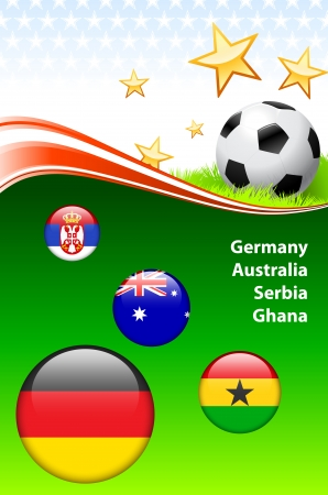 World Soccer Event Group D Original Illustration