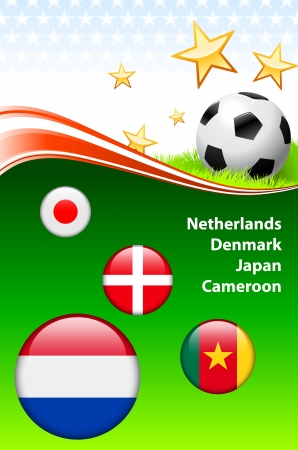 World Soccer Event Group EOriginal Illustration Stock Vector - 22429506