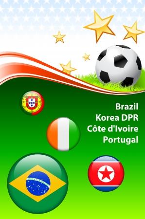 World Soccer Event Group GOriginal Illustration Stock Vector - 22429510