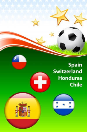 World Soccer Event Group H Original Illustration Vector