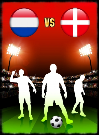 Netherlands versus Denmark on Stadium Event Background