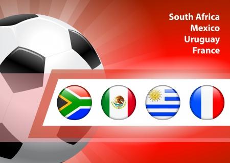 Global Soccer Event Group A Original Illustration