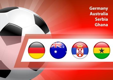 Global Soccer Event Group DOriginal Illustration Imagens - 22491116