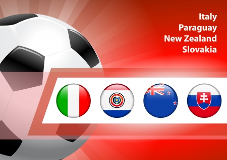 Global Soccer Event Group F Original Illustration Vector