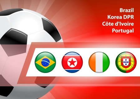 Global Soccer Event Group G Original Illustration