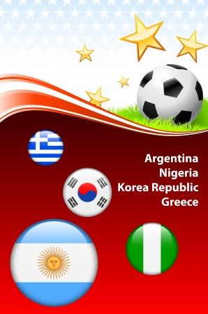 group b: World Soccer Event Group B Original Illustration