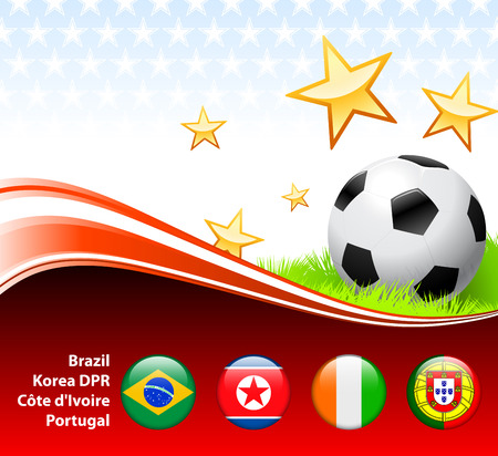 World Soccer Event Group GOriginal Illustration 向量圖像