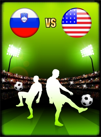 Slovenia versus United States on Stadium Event Background