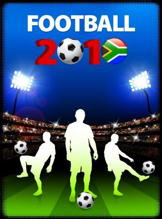 Soccer Team with South African 2010 EventOriginal Illustration Illusztráció