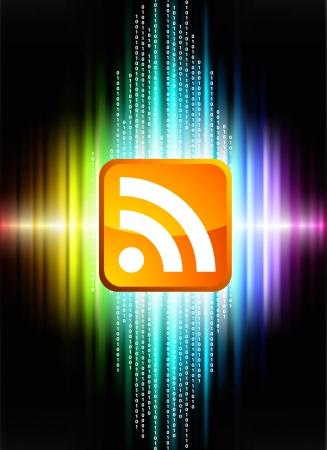 RSS on Abstract Spectrum Background  Original Illustration